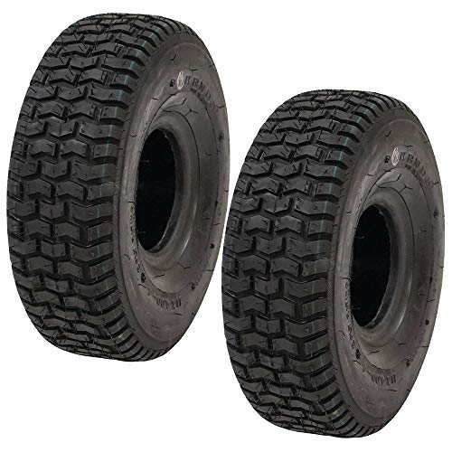 Tread Tire Tubeless 2 Ply (Stens 2 Kenda Tire 11x4.00-4 Turf Rider Tread 2 Ply Tubeless Lawnmower Golf Go Cart 5110271 20690061)