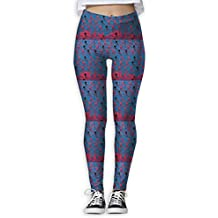FINOHM Red Happy Cartoon Provide Women with High-Waisted, Ultra Soft Lightweight Gym Yoga Leggings