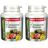 A-Z Multivitamins |Complete Formula with 31 Essential Nutrients|2x 180 Tablets