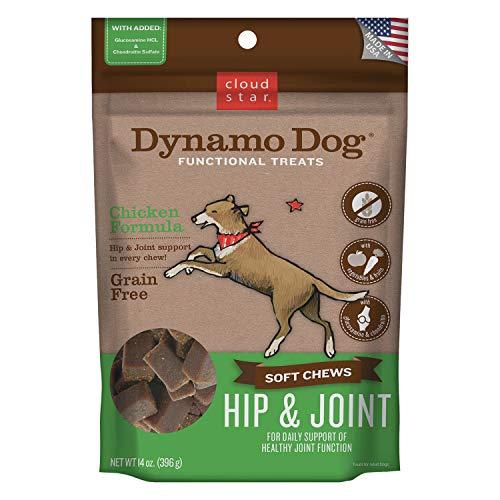 Cloud Star Dynamo Dog Hip & Joint Soft Chew Treats Chicken Formula - Grain Free - 14 Oz