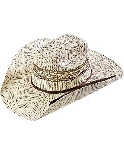 (M&F Western Unisex Twister Bangora Cowboy Hat (Little Kids/Big Kids) Brown/Chocolate Band LG)