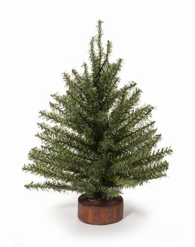 Mixed Pine Artificial Tree (Mixed Pine Tree with Wood Base - 120 Tips - 12 inches (1 pack))