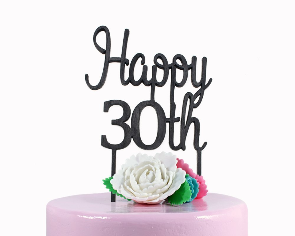 Fantastic Amazon Com Happy 30Th Cake Topper 30Th Birthday Cake Topper Funny Birthday Cards Online Alyptdamsfinfo