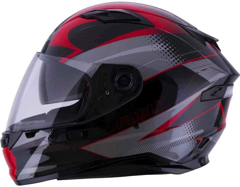 Matte Black//White//X-Large GMAX FF-98 Adult Apex Full-Face Motorcycle Helmet