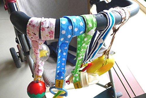 URAQT Baby Flaschen Halter Spielzeug Bügel Gurt, für Kinderwagen/Autositz/Hochstuhl - 6Pcs