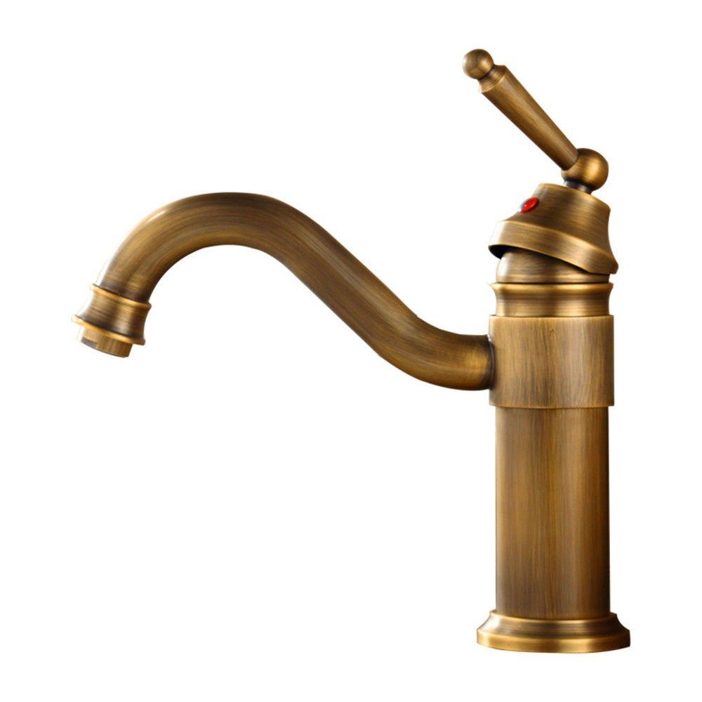 MEIBATH Waschtischarmatur Badezimmer Waschbecken Wasserhahn Küchenarmaturen Messing antik 360° Schwenken Küchen Wasserhahn Badarmatur