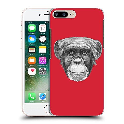GoGoMobile Coque de Protection TPU Silicone Case pour // Q05170601 Dessin singe Alizarine // Apple iPhone 7 PLUS