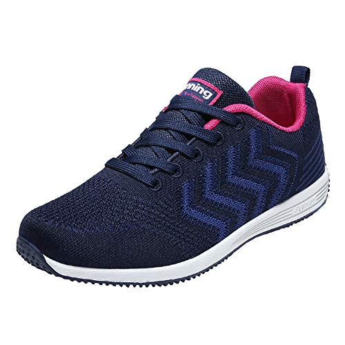 KUIBU Women Men Lightweight Sports Breathable Slip-On Toning Shoes Mesh Running Sneaker Athletic