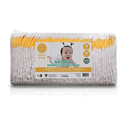 Little Toes Naturally Biodegradable Disposable Bamboo Fiber Diaper (Medium, 36 Count)