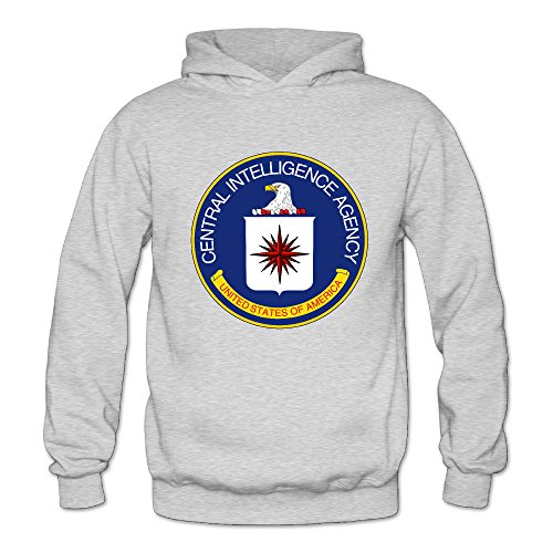 Central Intelligence Agency Women's Long Sleeve Sweatshirts and Hoodies Ash US Size L
