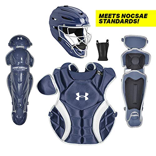 Under Armour PTH Victory Series Catching Kit, Meets NOCSAE, Ages 12-16, Navy Blue