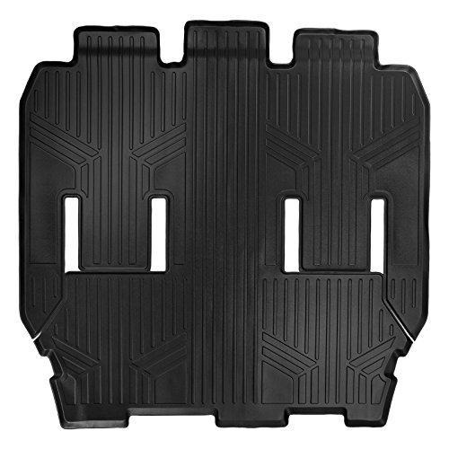 Chrysler Pacifica Floor - MAX LINER B0291 MAXFLOORMAT Floor Mats for Chrysler Pacifica (2017) Second and Third Row (Black)