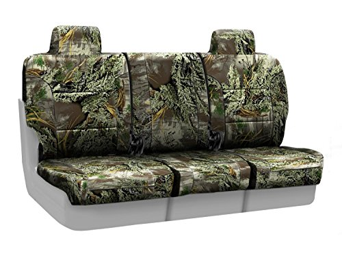 - Coverking Front 40/20/40 Split Bench Custom Fit Seat Cover for Select Isuzu NPR Models - Neosupreme Camo Real Tree (Max-1 Solid)