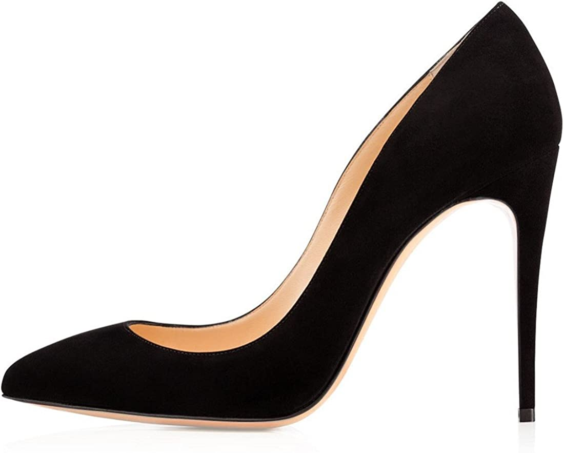 EDEFS Zapatos de Tacón para Mujer,Zapatos de Tacón con Punta Cerrada para Mujer