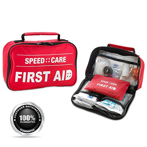 First Aid Kit - 152 Piece 2-in-1 1st Aid Kit and Emergency First Aid Survival Kit for Home, Travel, Business, Camping, Sports, Emergency, Bonus Mini Travel Car First Aid Kit