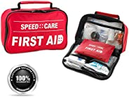 First Aid Kit - 96 Piece Compact Lightweight Portable Safety Trauma Bag Emergency Survival Kit Gear Home and P