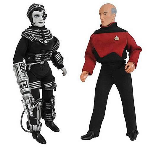 (DIAMOND SELECT TOYS Star Trek Retro Series 9 Picard and Borg Figure)