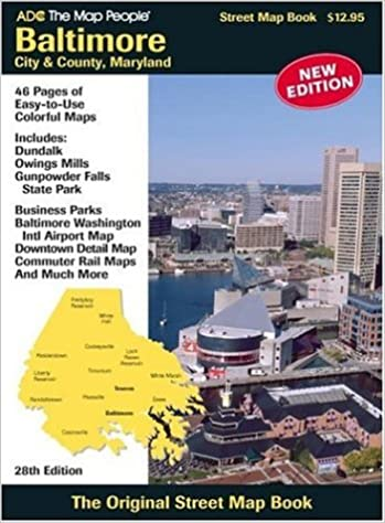 Baltimore City  County Maryland Street Map Books