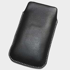 Funda de protección de piel talla XL, color negro para Sony Ericsson Arc Xperia
