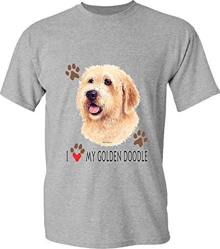I Love My Golden Doodle - Dog Lover T-shirt -