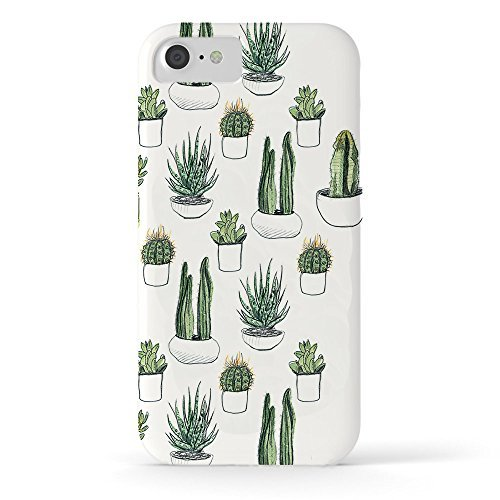 Roses Garden Phone Case Protectivedesign Hard Back Case Watercolour Cacti and Succulent Tough Case for iPhone ()