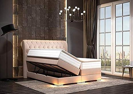HG Royal Estates GmbH Baron Luxus Chesterfield - Cama con somier y cajonera (Incluye iluminación
