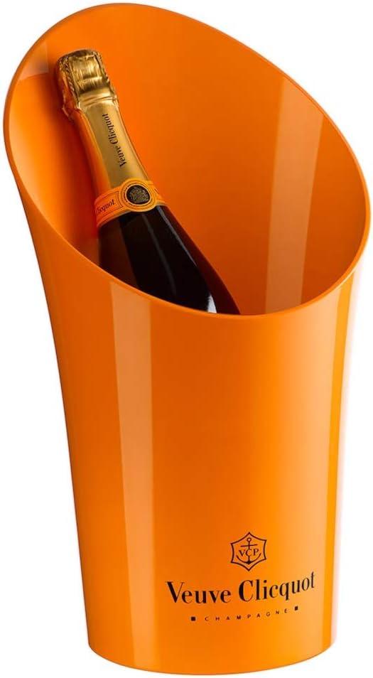 Veuve Clicquot - Cubitera para botellas de champán, color amarillo: Amazon.es: Hogar