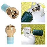 Outdoor Camping Hiking Stove Copper Adaptor Propane Refill Adapter LP Gas Cylinder Tank Coupler Heater Camping Hunt Tools