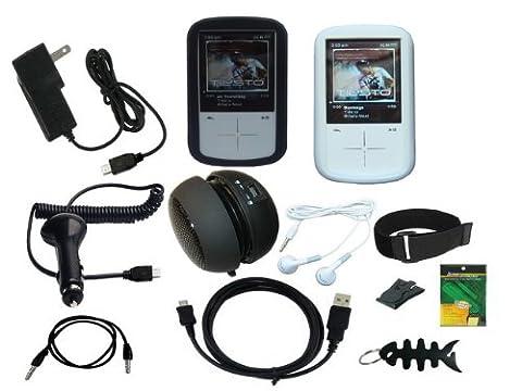 iShoppingdeals - 12 Item Accessories Bundle Combo for Sandisk Sansa Fuze+ MP3 Player SDMX20R (Sansa Fuze Speakers)