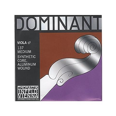 Thomastik-Infeld 137 Dominant Nylon Core Viola String, Medium Gauge, 4/4 Scale, D (Dominant Viola A String)