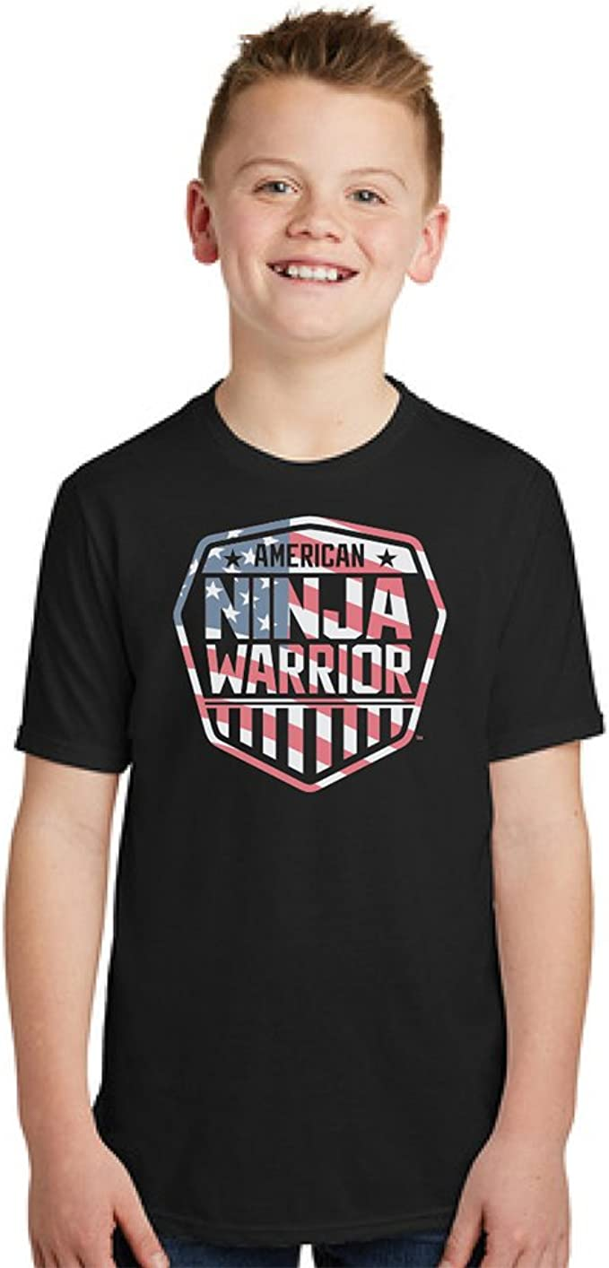 "American Ninja Warrior Americana Youth T-Shirt for ""Warriors in Training"" - 100% Cotton - Short Sleeve T-Shirt"