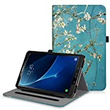Fintie Case for Samsung Galaxy Tab A 10.1, [Corner Protection] Multi-Angle Viewing Folio Stand Cover with Packet Auto Sleep/Wake for Tab A 10.1 Inch (NO S Pen Version SM-T580/T585/T587) Tablet,Blossom