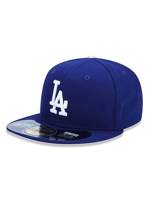 4e9561bad6d4a Boné New Era MLB Los Angeles Dodgers 5950 Azul  Amazon.com.br ...