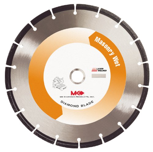MK Diamond 128629 MK-30S 14-Inch Wet Cutting Segmented Saw Blade with 1-Inch Arbor for Brick and Block (Arbor 0.125')