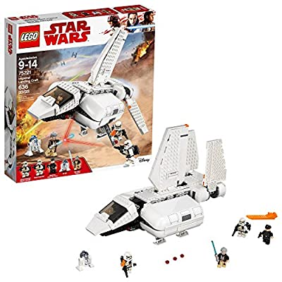 LEGO Star Wars Imperial Landing Craft 75221 Building Kit, Obi-Wan Kenobi, Imperial Shuttle Pilot, Sandtrooper (636 Piece)
