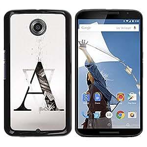 All Phone Most Case / Hard PC Metal piece Shell Slim Cover Protective Case Carcasa Funda Caso de protección para Motorola NEXUS 6 / X / Moto X Pro Art Formation A Triangle Shape