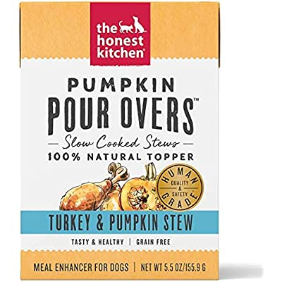 Honest Kitchen 5.5 Oz Dog Pour Over Grain Free Turkey & Pumpkin Stew Food (Single)