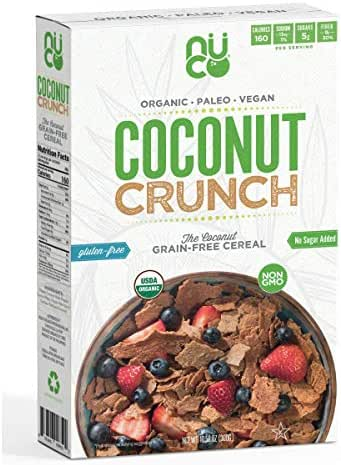 Certified ORGANIC Grain and Gluten Free Coconut Crunch Cereal, 1 Box, 10.58 OZ