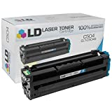 LD © Compatible Replacement for Samsung CLT-C504S Cyan Laser Toner Cartridge for use in Samsung CLP-415NW, CLX-4195FN, CLX-4195FW, SL-C1810W, and SL-C1860FW Printers