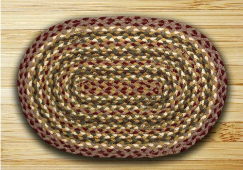 Earth Rugs 52-PM324 Placemat, 13 x 19, Olive/Burgundy/Gray