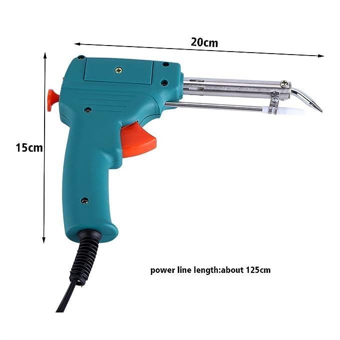 Yosoo 220V 60W Pistola de Soldadura de Estaño para Una Mano, Electrónico y Automático Herramienta de Soldadura: Amazon.es: Bricolaje y herramientas