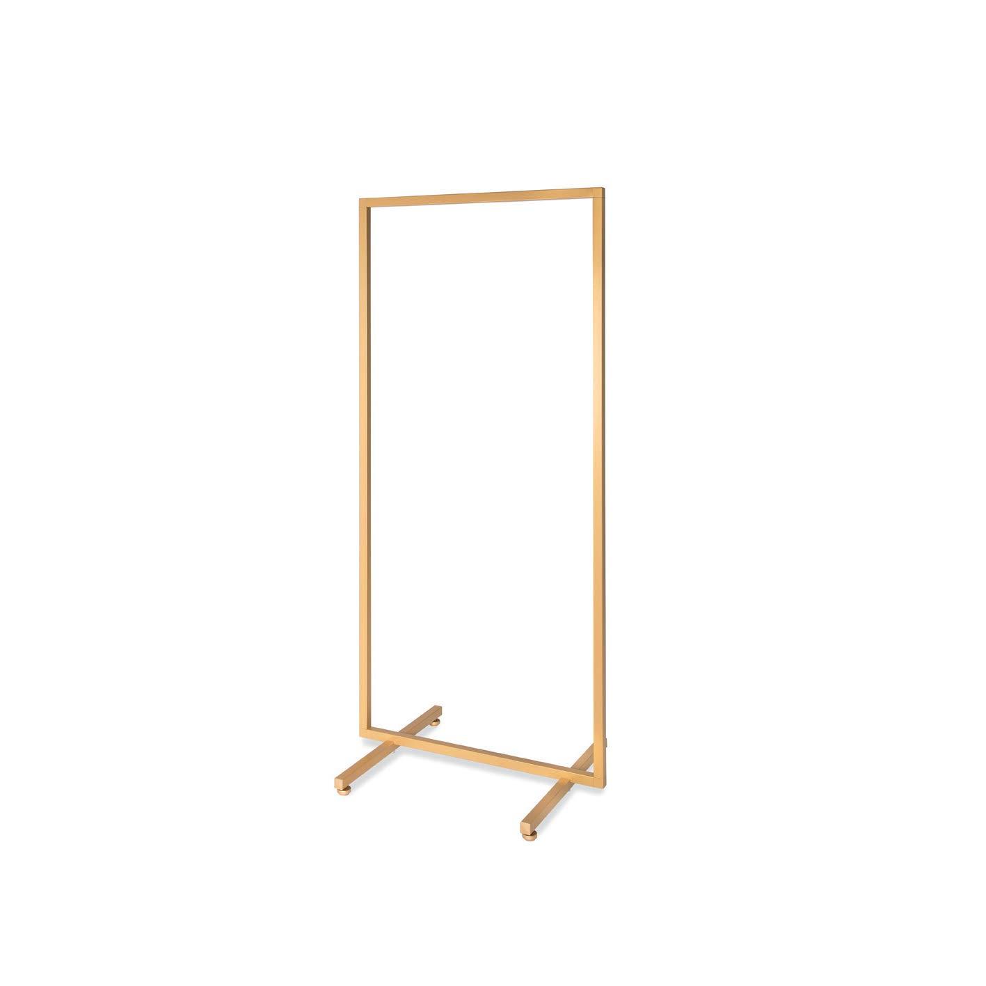 RONNIEART Stender Semplice Fisso APPENDERIA Oro Tubo Quadrato da 99 cm Gondola Boutique Abbigliamento Design Moderno