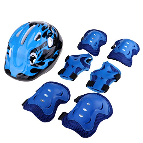 Baosity-Kids-Knee-Pads-Elbow-Pads-Wrist-Guards-and-58-62cm-Helmet-Set-for-Biking-Riding-Cycling-Skateboarding