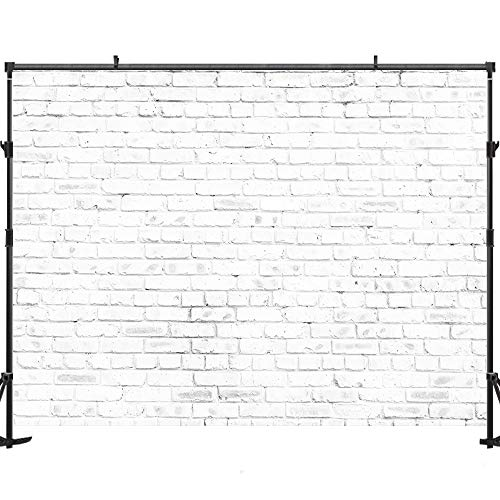 Allenjoy White Brick Backdrop Brick 7x5ft Backdrop for Photography White Brick Wall Photo Backdrop Birthday Party Decoration Backdrop for Pictures Photo Studio for Children Backdrop