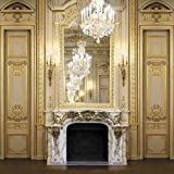 GladsBuy Fireplace Of Royal Room 8' x 8' Computer Printed Photography Backdrop Indoor Theme Background HY-CM-4068