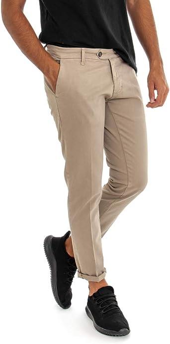 Giosal Pantalon Modelo De Bolsillo Americano Para Hombre Color Beige Liso Slim Akiro Casual Beige 48 Amazon Es Ropa Y Accesorios