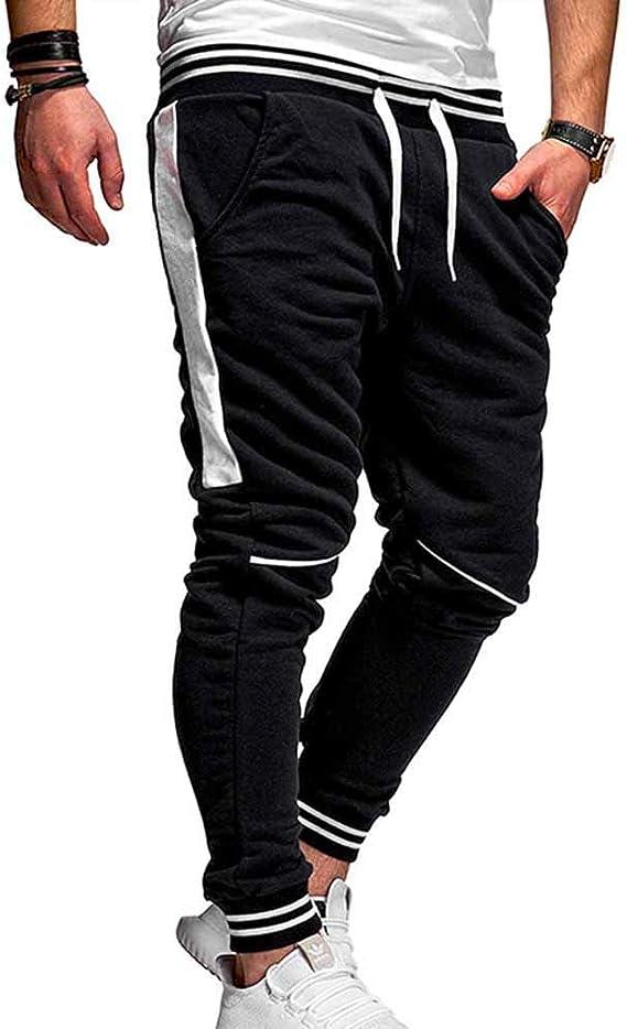 hellomiko Pantalones de Gimnasia para Hombre Pantalón de ...