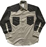 Just In Trend Flame Resistant FR Shirt - 88/12 - Western Style - Two Tone (Small, Light Grey/Dark Grey)