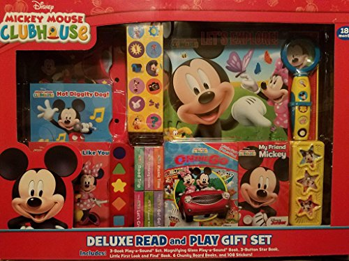 Disney FBA_LYS1450890628-Toys Mickey Mouse Clubhouse Deluxe Read and Play Gift Set