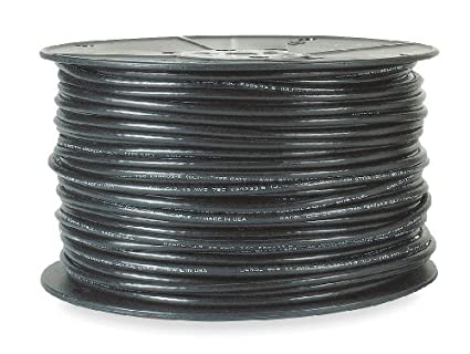 Coaxial Cable, 18 AWG, 500 ft., Black